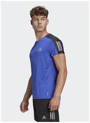 adidas adidas FT1431 OWN THE RUN TEE Erkek T-Shirt Mavi